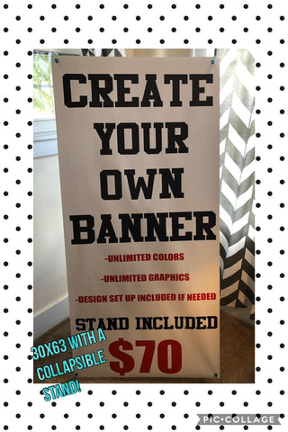 Banner with Collapsible Banner Stand
