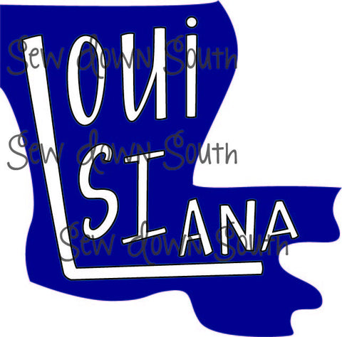 State of Louisiana SVG Cut File