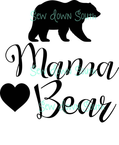 Mama Bear (And Family) SVG Cut Files
