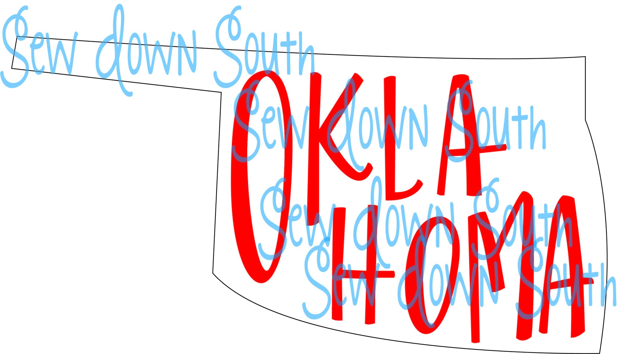 State of Oklahoma SVG Cut File