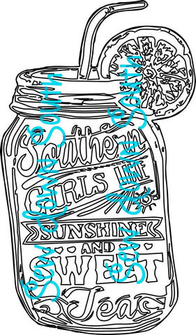 Southern Girls Sweet Tea SVG Cut File