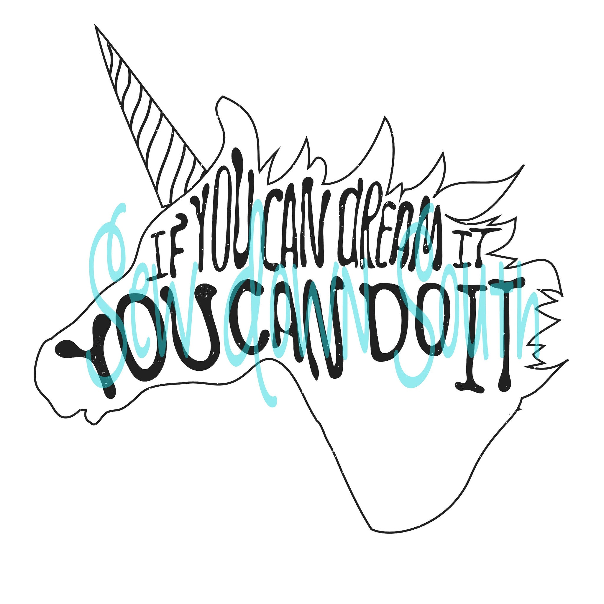 Dream Unicorn SVG Cut File