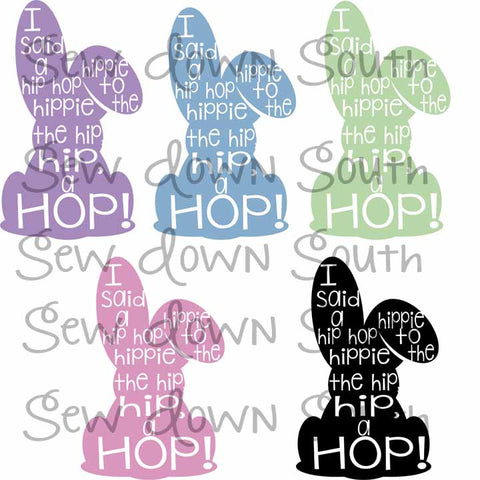 Hip Hop Bunny SVG Cut File