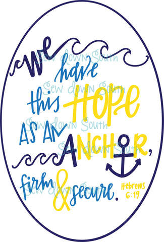 Hope As An Anchor SVG Cut File