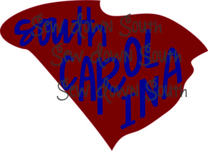 State of South Carolina  SVG Cut File