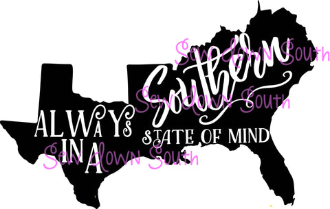 Southern State Of Mind SVG Digital Cut File
