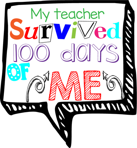 100 Days of School Custom Transfers
