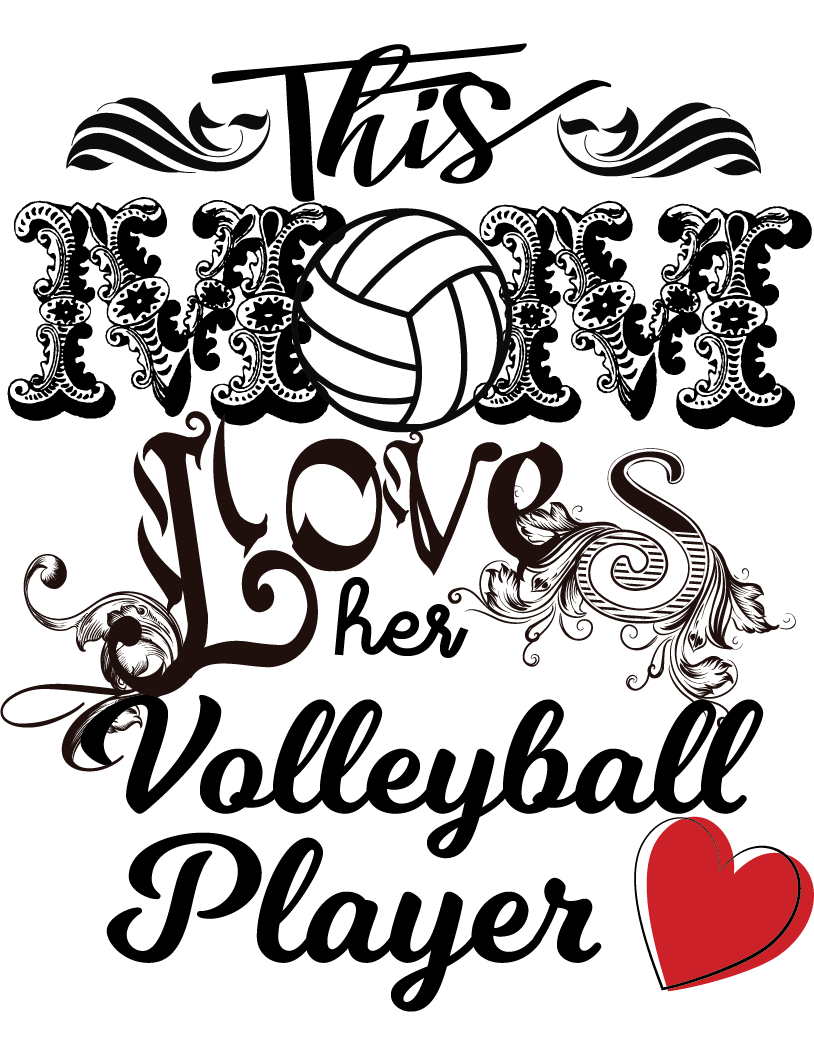 Volleyball Custom Printed Transfers