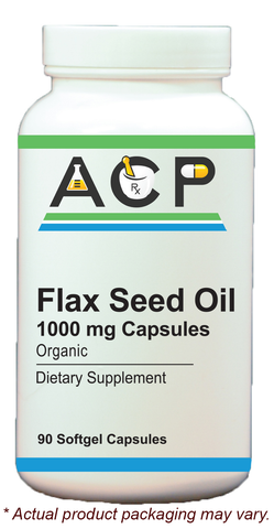 Flax Seed Oil / 1000mg Softgel Capsules