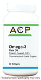 Omega 3 Fish Oil Enteric Coated High Potency / 60 Ct