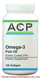 Omega 3 Fish Oil Enteric Coated High Potency / 120 Ct