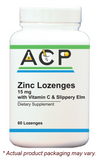 Zinc Lozenges / 15mg with Vitamin C & Slippery Elm
