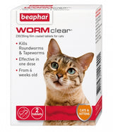 Beaphar WORMclear - Vet strength wormer for Cats
