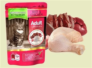 Natures Menu Cat Pouch  Beef & Chicken