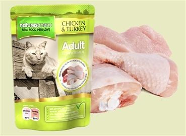 Natures Menu Cat Pouch  Chicken & Turkey