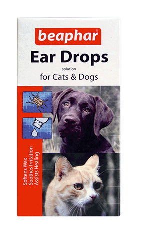 Symptoms Common and noticeable by brown deposits (similar to coffee grains) just inside the ear. These mites make the dog shake their head and scratch at the ears. Treatment Ear mite treatment is easy with ear drops (used with an ear cleaner) or some 'spot-on' preparations.
