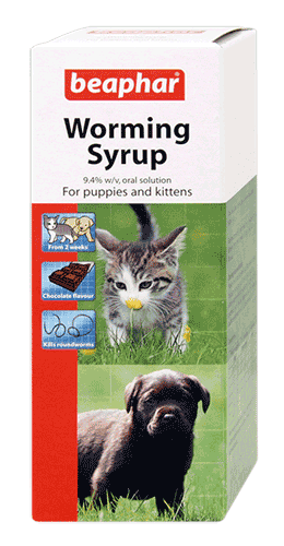 Beaphar Worming Syrup puppies and kittens