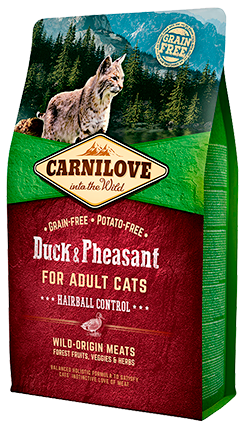 Carnilove Cat – Duck & Pheasant – Hairball Control