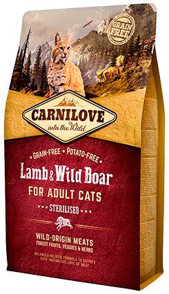 Carnilove Cat – Lamb & Wild Boar – Sterilised