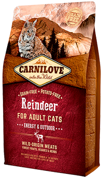 Carnilove Cat – Reindeer for Adult Cats – Energy & Outdoor