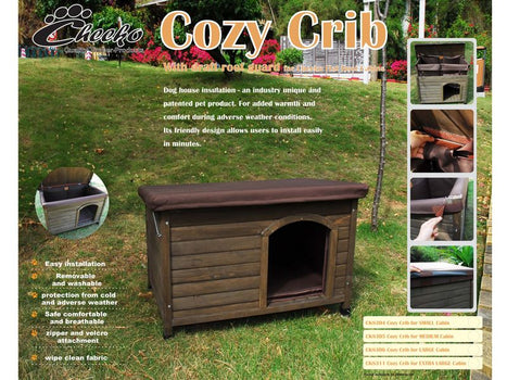 Cheeko Cozy Crib for Flat Roof Dog Kennels