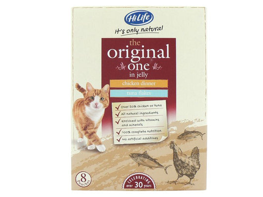 Almost Home Donation.  HiLife Cat Pouches Original 8x70G