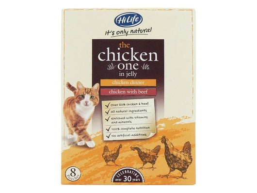 Almost Home Donation.  HiLife Cat Pouches Chicken 8x70G