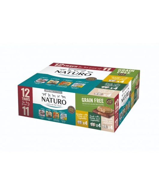 Almost Home Donation.  Naturo Grain Free Variety Pack 12 x 400g Tray