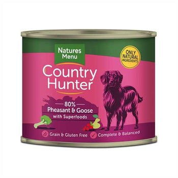 Natures Menu Country Hunter Pheasant & Goose 600g Tins