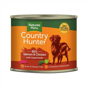 Natures Menu Country Hunter Salmon & Chicken  600g Tins
