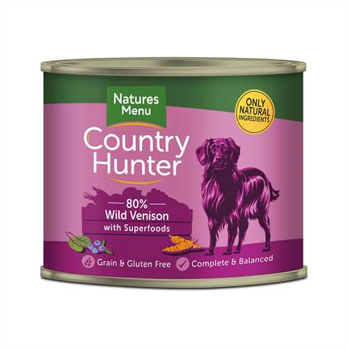 Natures Menu Country Hunter Wild Venison 600g Tins