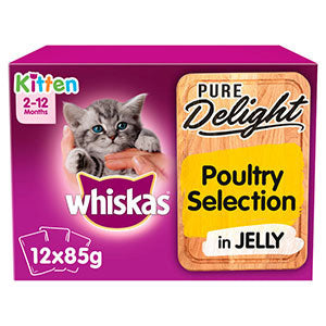 Almost Home Donation.  Whiskas Pure Delight Kitten Food 12 x 85g