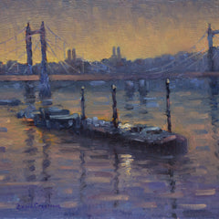 David Cressman Title: Albert Bridge at Dusk #015