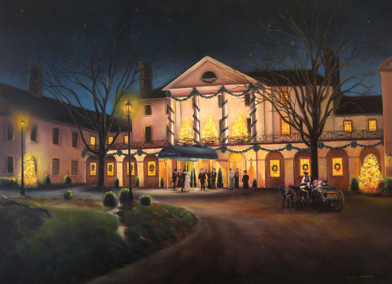 Gulay Berryman Title: The Williamsburg Inn at Christmas