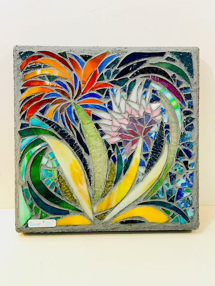 Mary Lu Bennett Title: Flowers Stepping Stone