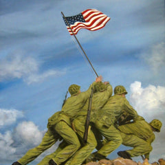 Gulay Berryman Title: U.S. Marines Raise Flag on Mt. Suribachi, Iwo Jima