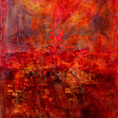 Anne Piland Title: Abstract in Red and Iron