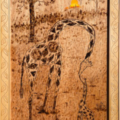 Babs Mohammed Title: Giraffe with Baby Call Sweet Mother