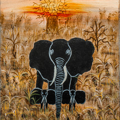 Babs Mohammed Title: African Elephants at Sunset