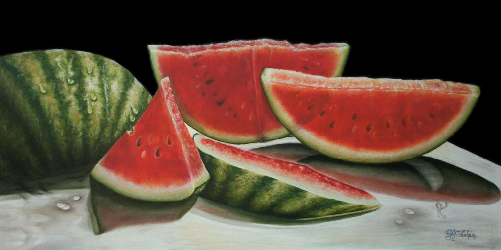 Gloria J. Callahan Title: Backlit Watermelons