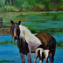 Barbara Byrd Title: Mama and Baby Chincoteague Ponies