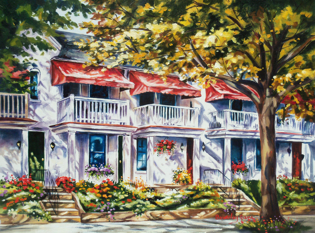 Beverley Jane Title:Red Awnings in Autumn