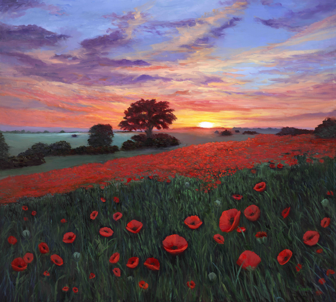 Bonnie Jordan Title: Poppies at Sunset