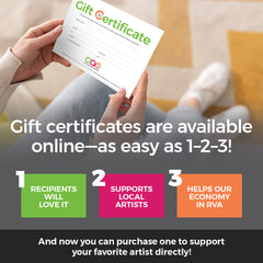 Gift Certificates - Crossroads Art Center