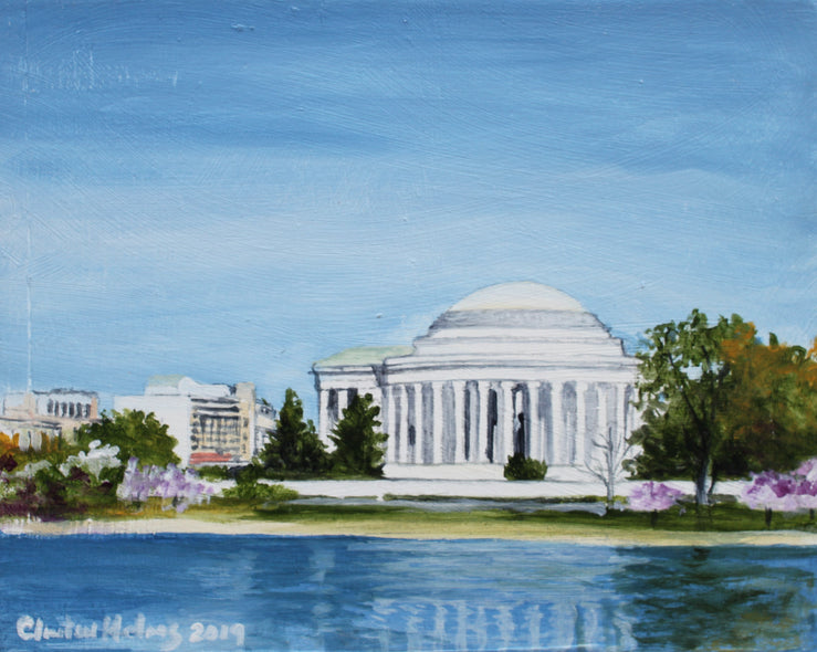 Clinton Helms  TItle: Jefferson Memorial on the Mall