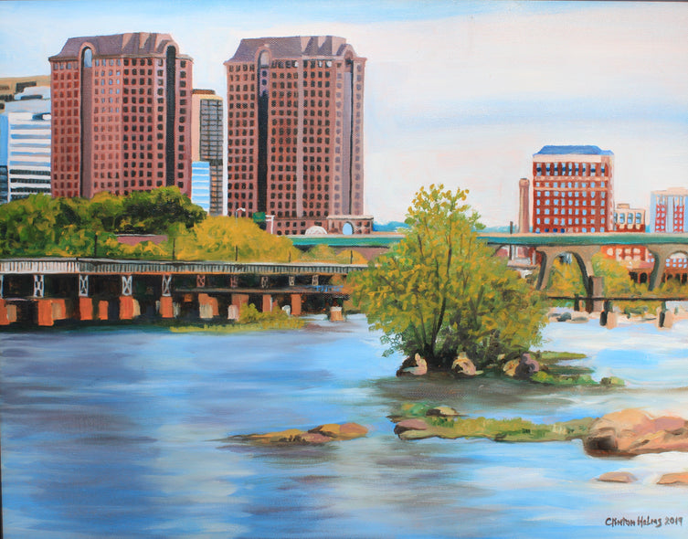 Clinton Helms  Title: Twin Banks on the James River