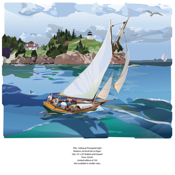 Sam LaFever Title: Sailing at Pemaquid Light