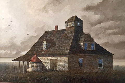Artist John Morton Barber Title:Caffey's Inlet Life Guard Station