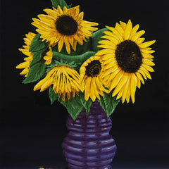 Cheatham, David Title: Sunflowers in Purple Vase