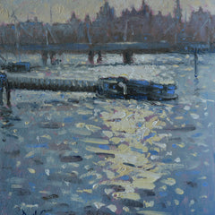 David Cressman Title:  River Thames Sunlight #029